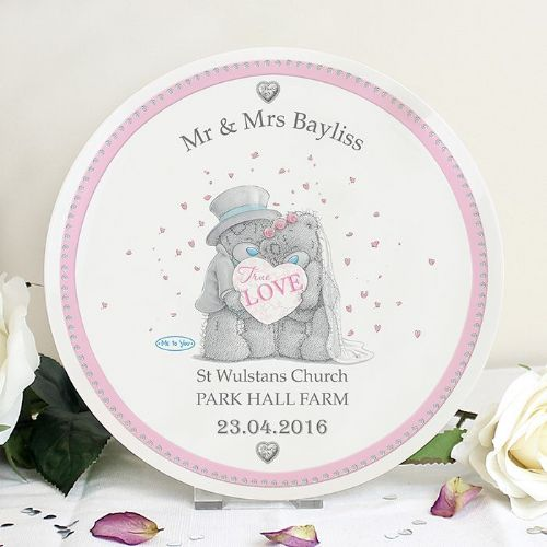 Personalised Me To You Wedding Couple Plate